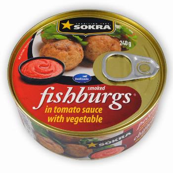 Pečenáče z uzených ryb v rajčatové omáčce se zeleninou 240g  SOKRA