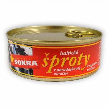Baltické šproty v rajčatové omáčce 240g  SOKRA